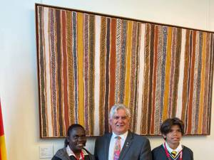 Antwan and Pauline visit Parliament House